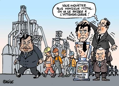 ArcelorMittal Florange : une mobilisation à renfor 12-12-03-mittal-hollande-montebourg-ayrault