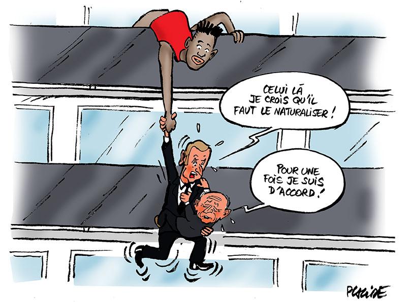 Le dessin du jour (humour en images) - Page 16 18-05-29-mamadou-gassama_macron_collomb