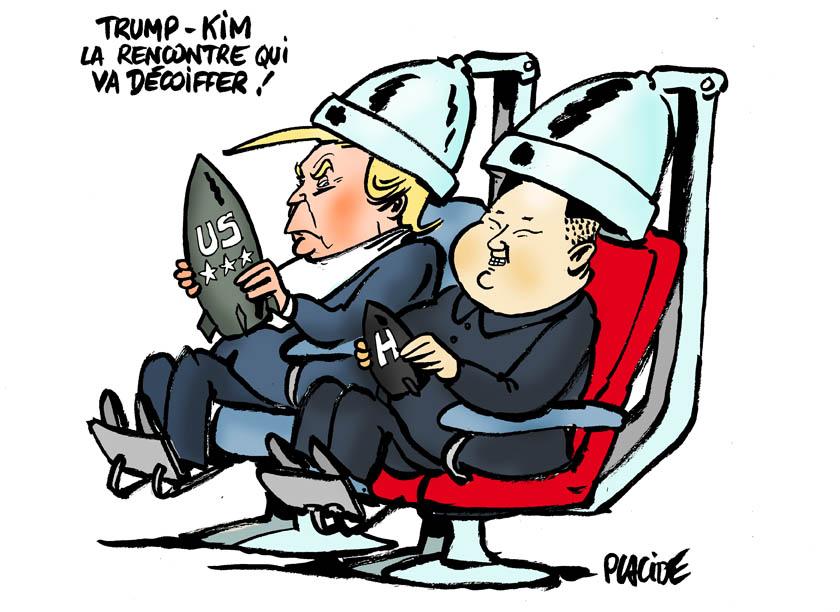 Le dessin du jour (humour en images) - Page 16 18-06-11-trump-kim