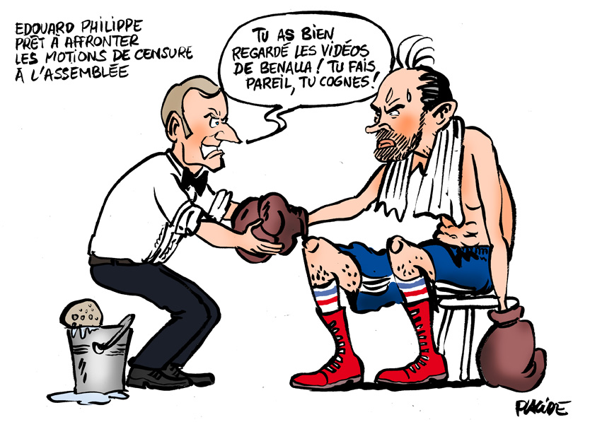 Le dessin du jour (humour en images) - Page 18 18-07-31macron-philippe
