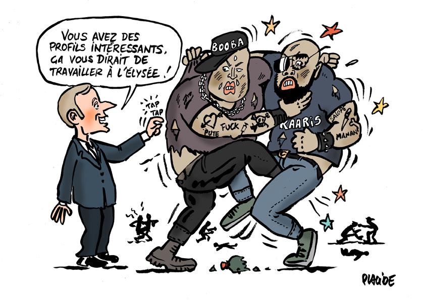 Le dessin du jour (humour en images) - Page 18 18-08-02-macron-booba-kaaris