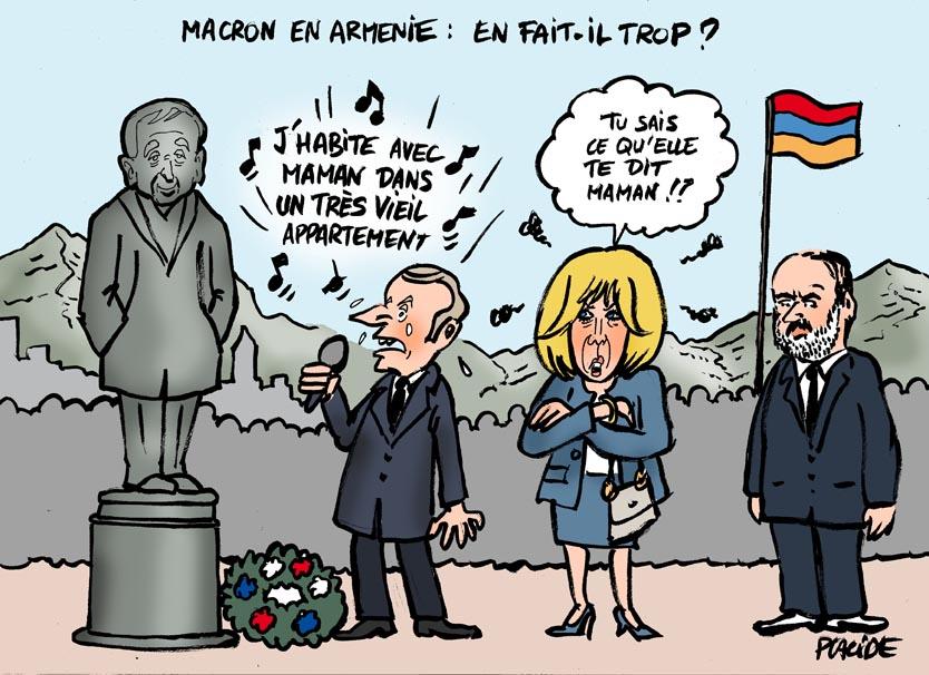 Le dessin du jour (humour en images) - Page 20 18-10-11-aznavour-macron-brigitte