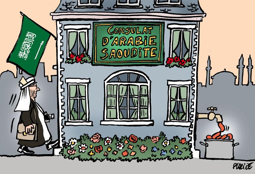 Le dessin du jour (humour en images) - Page 20 18-10-19-Khashoggi