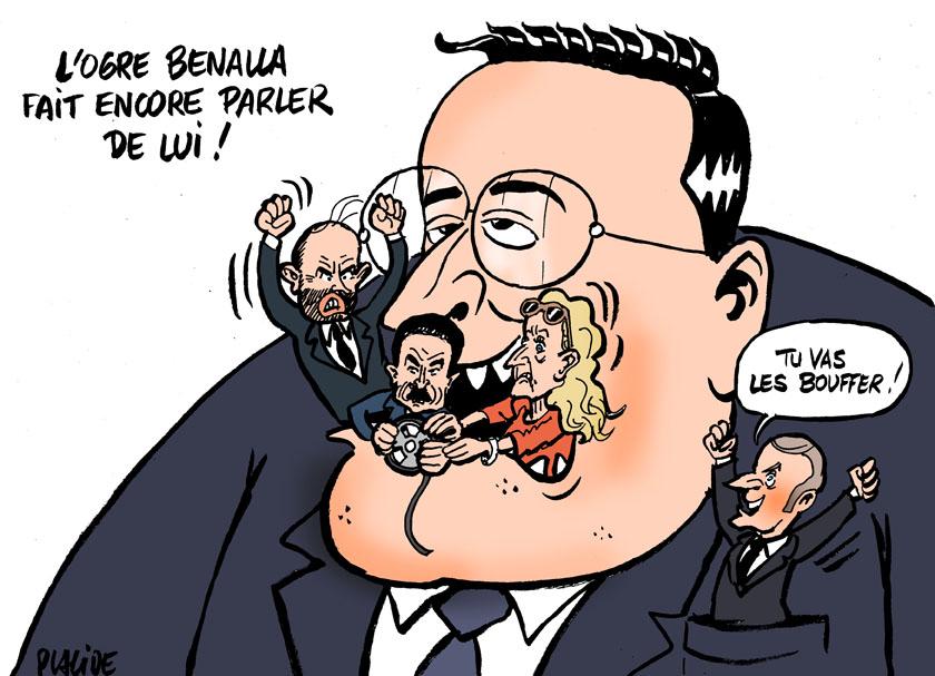 Le dessin du jour (humour en images) - Page 23 19-02-07-benalla-macron-plenel-philippe-belloubet