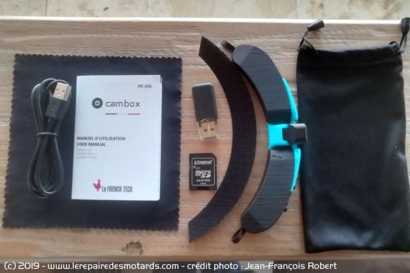 caméra de casque Cambox MKV3 Camera-casque-cambox-mkv3-pack