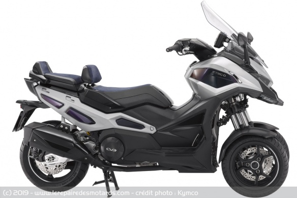 Kymco : un prototype 3R sera présenté à Milan. Kymco CV3 - Page 3 Concept-3-roues-kymco-cv3-profil