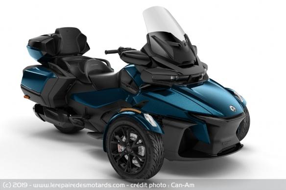 Nouveauté 3-roues : Can-Am Spyder RT Trois-roues-can-am-spyder-rt-lt-bleu