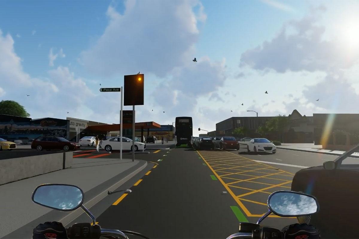 Une signalisation pour sécuriser les motards aux intersections (NZ) Experimentation-signalisation-intersection-securite-motards_hd