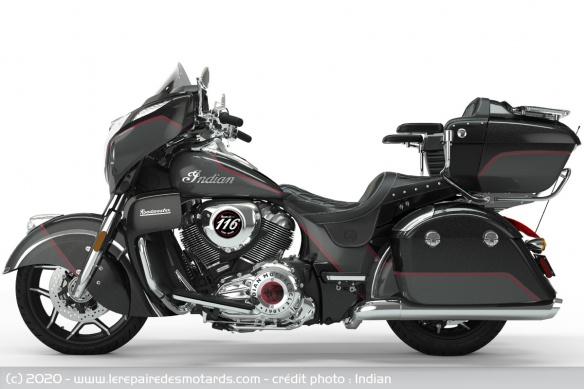 Edition limitée Indian Roadmaster Elite 2020 (1.901 cm3) Edition-limitee-indian-roadmaster-elite-gauche