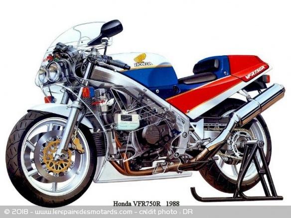 La Honda RC 30, sa vie, son œuvre Honda-rc-30-histoire-eclate-technique