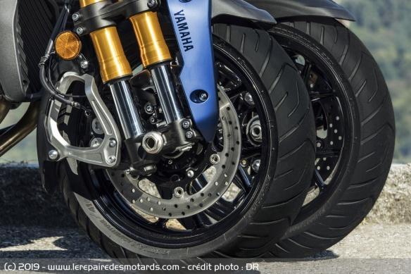 Découvrir la Yamaha 900 Niken GT - 2019 Moto-3-roues-yamaha-niken-gt-freins