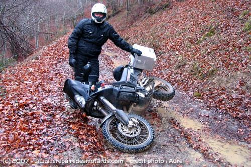 "le ""par-terre moto-photoclub"" Chute-moto"