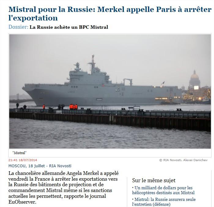 Dossier: MH - 17 Crash d'un Boeing malaisien en Ukraine  Merkel-mistral