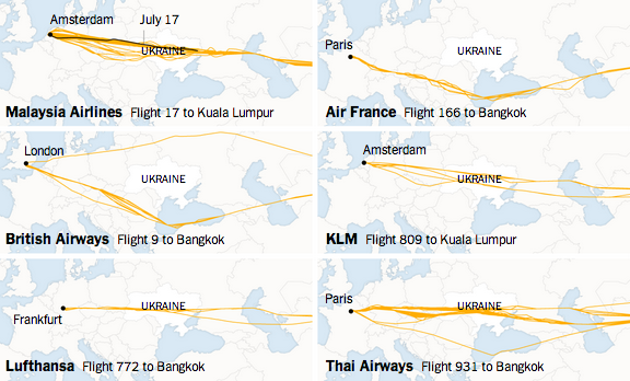 Dossier: MH - 17 Crash d'un Boeing malaisien en Ukraine  Plans-de-vol