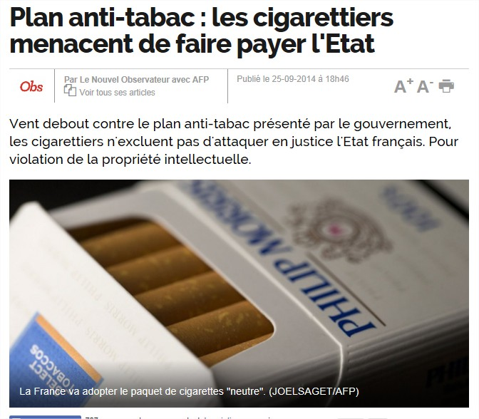 """La grande manipulation de l'industrie du tabac"" Tabac-ue"