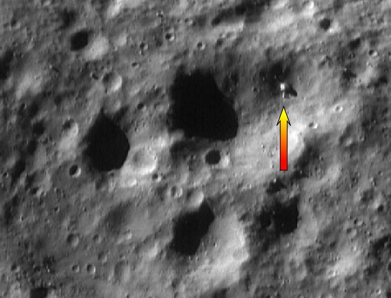 Anomalies sur l'astéroïde Eros Anomalie%20A.