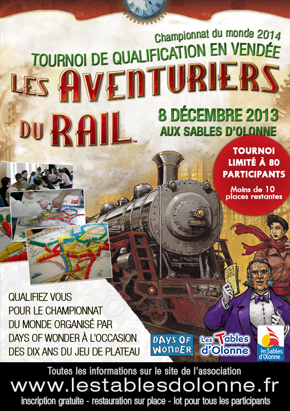 Tournoi Les Aventuriers du Rail aux Sables LADR2014