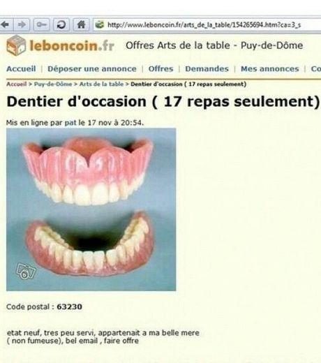 Drôleries et autres curiosités en images [interdit au moins de 18 ans] - Page 5 Un-dentier-presque-neuf-ca-ne-vous-tente-pas-le-bon-coin-vous-le-propose-en-tout-cas_124462_w460
