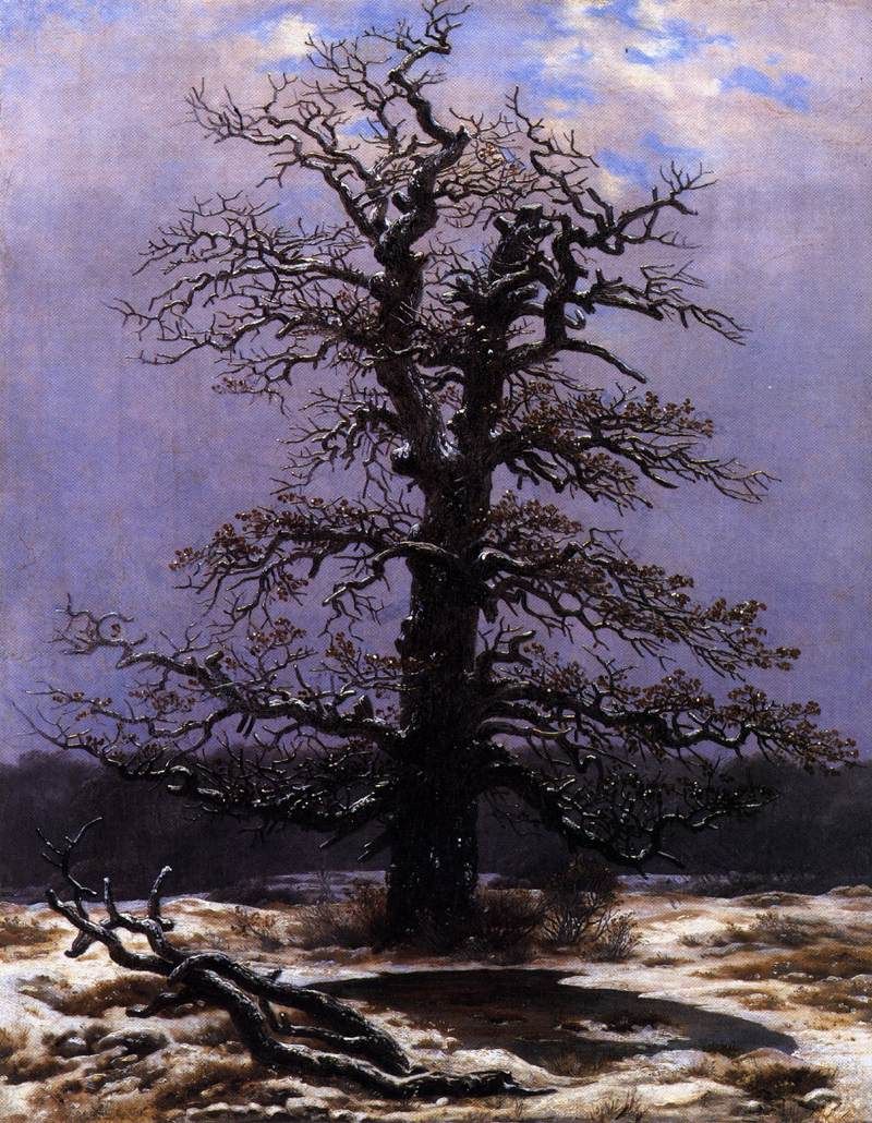 Caspar David Friedrich, (1774-1840) 10317-oak-in-the-snow-caspar-david-friedrich