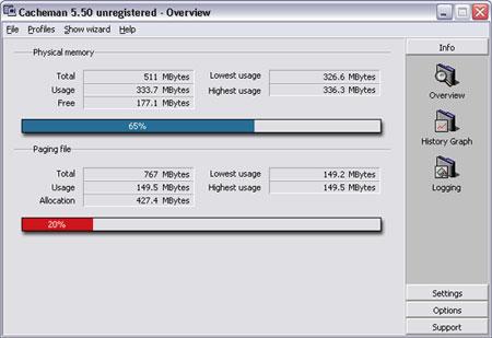 10 astuces pour améliorer la vitesse de Windows XP Cachema5502_450