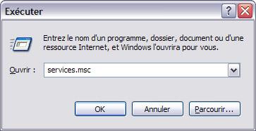 10 astuces pour améliorer la vitesse de Windows XP Servicesmsc