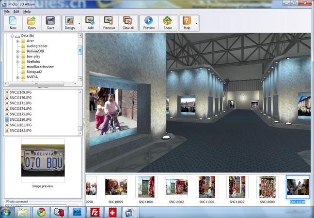 برنامج Photo! 3D Album لعرض الصور الخاصة بك في بيئات 3D الخلابة Photos3d1
