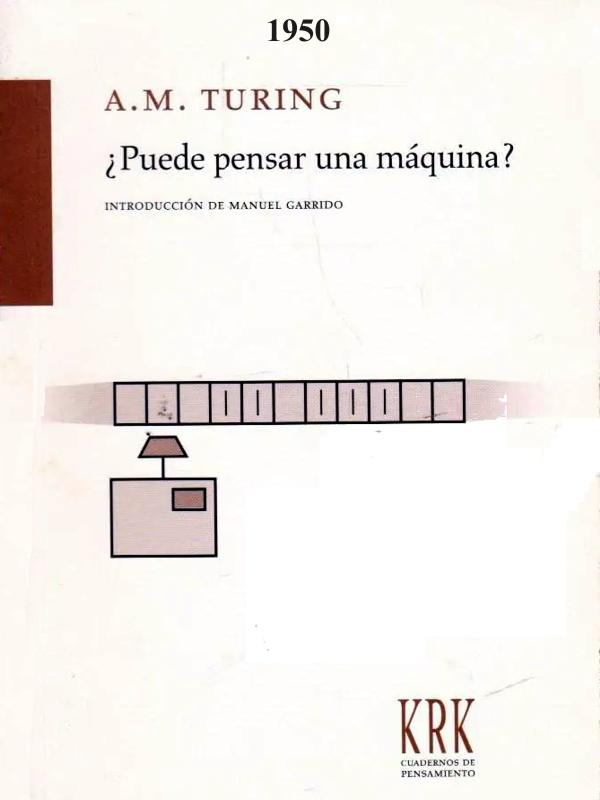 ¿Puede pensar una máquina? - Alan M. Turing - publicado en 1950 - varios formatos Portada