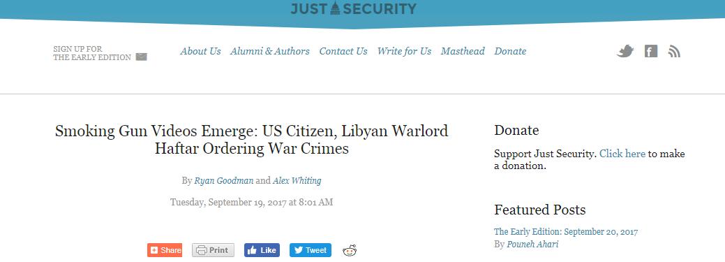 موقع جست سيكيورتي: أشرطة فيديو تثبت تورط المواطن الأمريكي حفتر بارتكاب جرائم حرب Capture-181