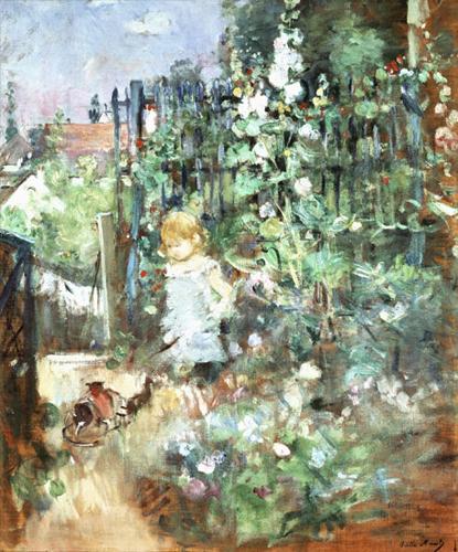 Berthe Morisot Morisot_childAmongStakedRoses_1881