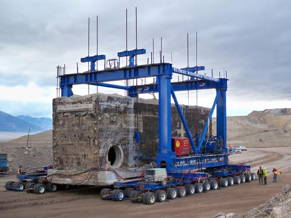 dispositivo di sollevamento strandjack Round-Mountain-Tunnel-Relocation
