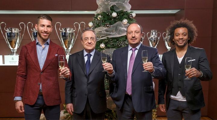 ¿Cuánto mide Rafa Benítez? - Altura - Real height Ramos-Florentino-Benitez-y-Marcelo