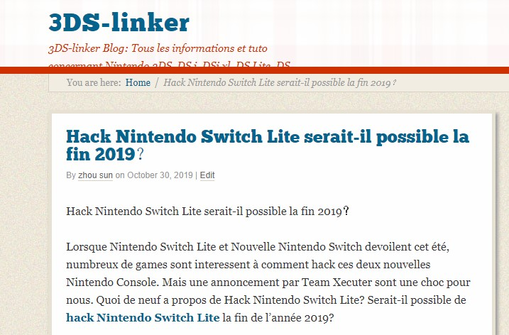 Switch neuve , hackable ou pas ? 123