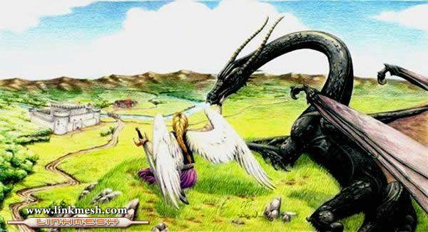 Solamente Impresionantes Dragones Angel_y_dragon