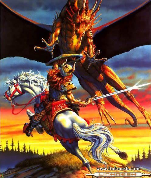 Solamente Impresionantes Dragones Caballero_y_el_dragon