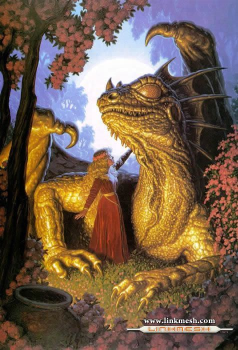 Solamente Impresionantes Dragones Dama_y_dragon