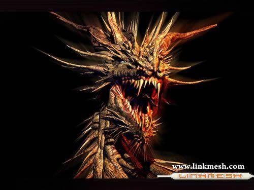 Solamente Impresionantes Dragones Demonio_dorado