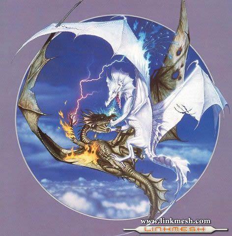 Solamente Impresionantes Dragones Dragon_blanco_y_dragon_verde
