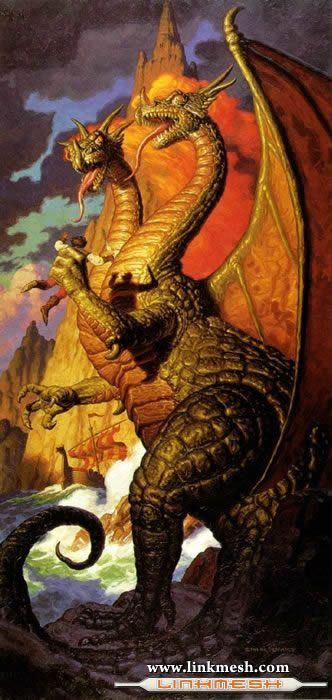 Solamente Impresionantes Dragones Dragon_dos_cabezas