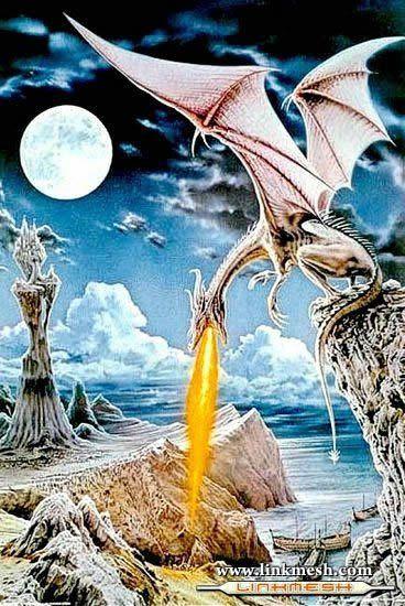 Solamente Impresionantes Dragones El_ataque_del_dragon_blanco