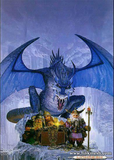 Solamente Impresionantes Dragones El_enano_y_el_dragon_azul