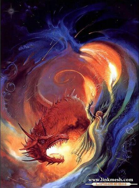 Solamente Impresionantes Dragones El_mago_y_el_dragon