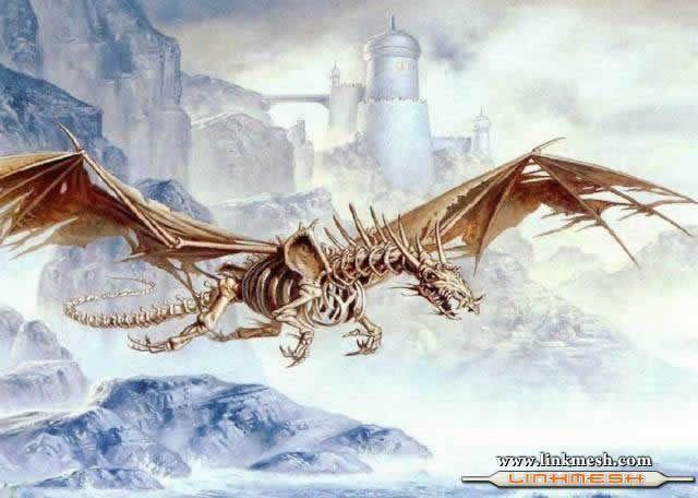 Solamente Impresionantes Dragones Esqueleto_volando