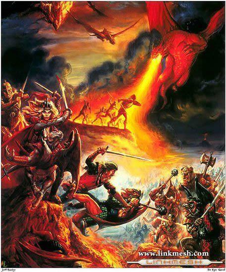 Solamente Impresionantes Dragones La_batalla_de_la_lanza