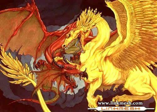 Solamente Impresionantes Dragones Rojo_y_amarillo