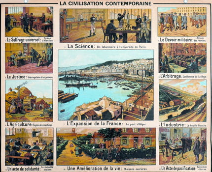 Histoire :  Anciennes affiches scolaires Civilisation-contemporaine-1131579