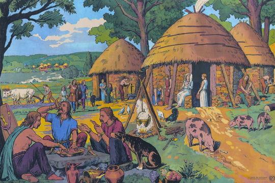 Histoire :  Anciennes affiches scolaires Gaulois-1131451