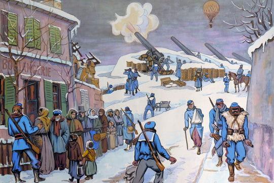 Histoire :  Anciennes affiches scolaires Siege-paris-1131524