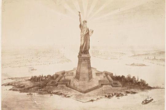 Evénements & Histoire : La construction de la Statue de la Liberté by L'Internaute Dessin-1325687