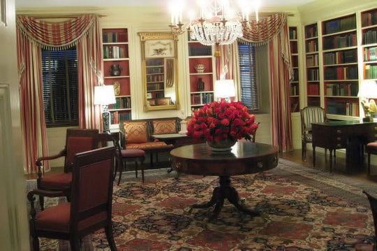 ديكور منزل اوباما (رئيس امريكا) Bibliotheque-430266