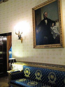 ديكور منزل اوباما (رئيس امريكا) Chambre-bleue-430404